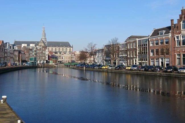 uitzicht vanuit In Den Swarten Hondt Haarlem